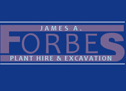 James Forbes  plant hire excavation company Banff Aberdeenshire